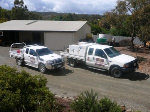 Outback Pest Control utes